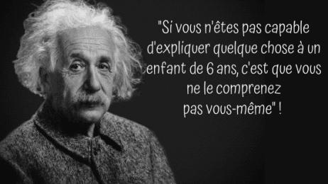 Citation d'Albert Einstein sur la simplicité
