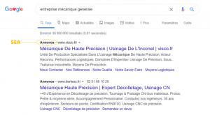 Exemple de recherche google payante