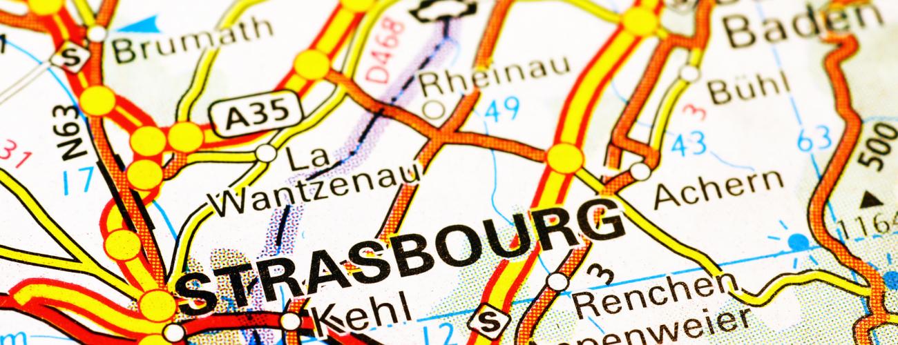 Carte routière Strasbourg